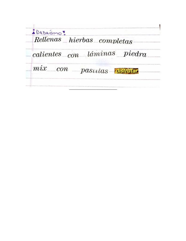 Poesía dadaísta - Camila Berraquero